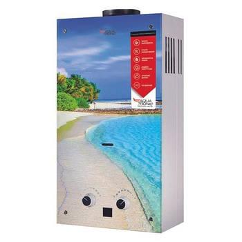 Водонагрівач проточний газовий димохідний JSD20-AG308 10 л/хв скло (пляж) Aquatronic
