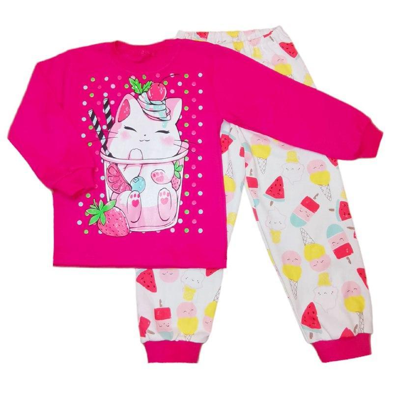 Пижама для девочек спринтом Кошечки интерлок-пенье