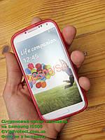 Samsung i9500, красный_силиконовый чехол Galaxy S4, фото 1