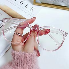 Окуляри для комп'ютера і телефону, окуляри для роботи за комп'ютером рожеві
