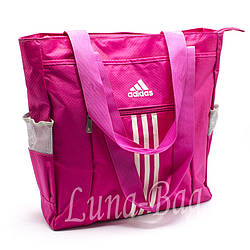 Сумка наплечная для покупок Adidas Адидас 4 Цвета,Малиновая