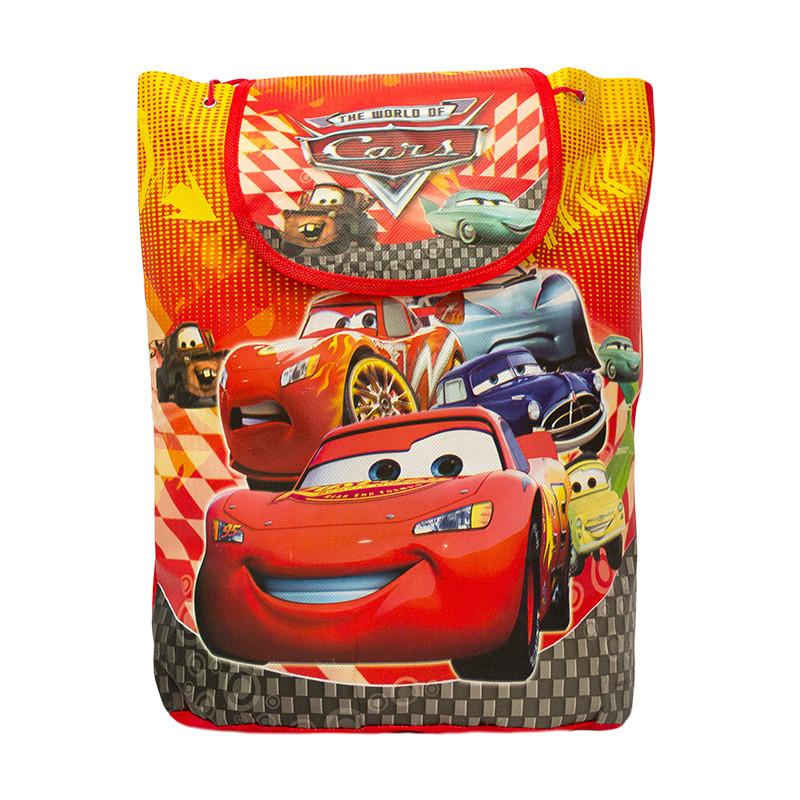 Детский рюкзак с рисунком (ТАЧКИ) 5 Цветов Красный  (35x32x12)