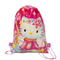 Детский рюкзак с рисунком (Hello Kitty) 3 Цвета  Розовый