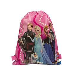 Детский рюкзак с рисунком (FROZEN)  Цвет Розовый (36x28 cm.)