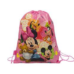 Детский рюкзак с рисунком (Mickey Mouse)  Цвет Розовый (36x28)