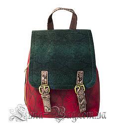 Женский Рюкзак 4 Цвета Красный-Зеленый (24*23*13)
