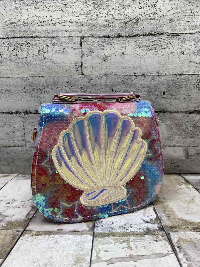 """Детская сумка """"Ракушка"""" Розовый (15х18х7 см)"""