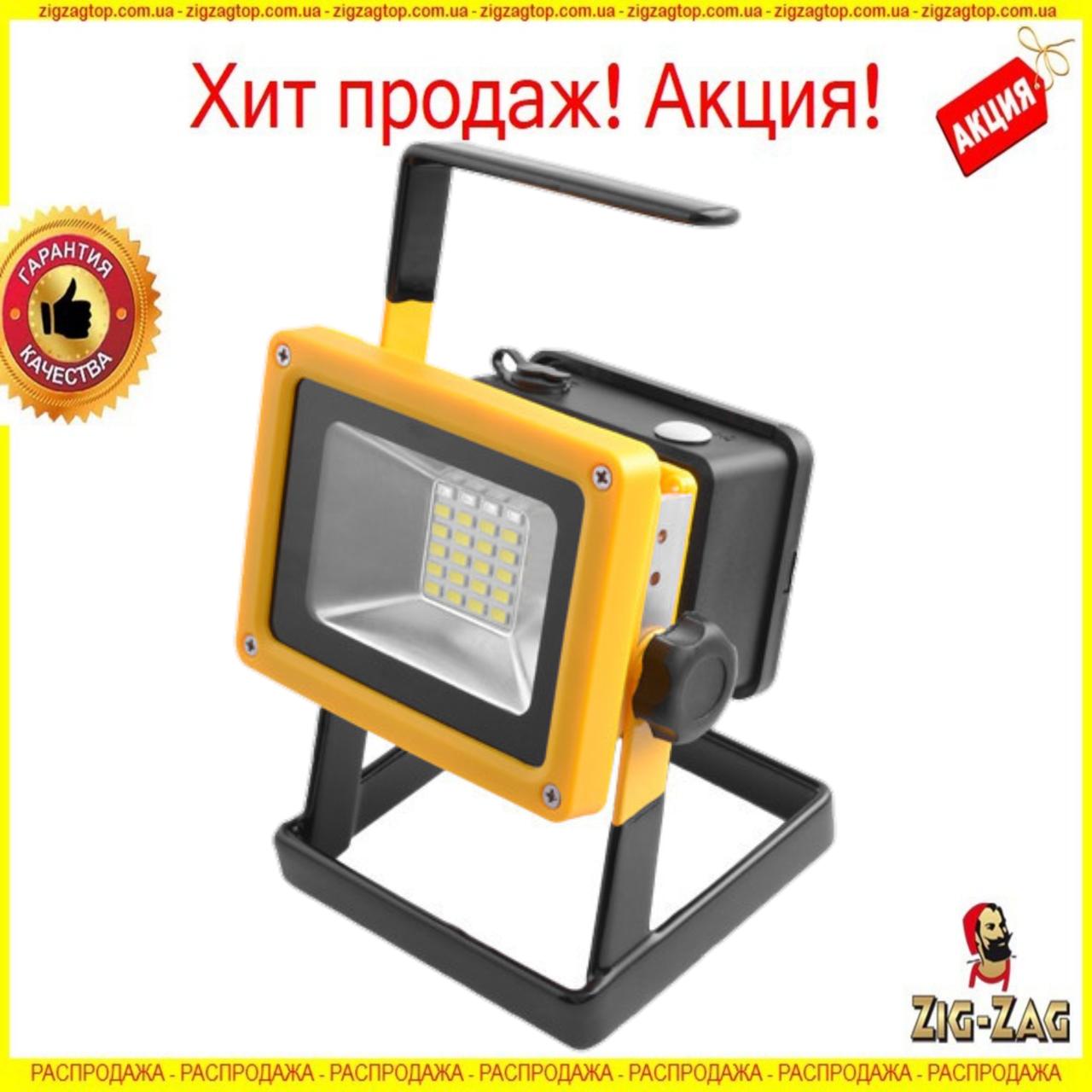 Кемпінговий ЛІХТАР ручний Прожектор Акумуляторний Bailong BL-204 100W від 3x18650 зі Стробоскопом Ліхтарик 220В