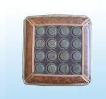 Нефритовий килимок на сидіння масажер 43х43 (круглі кам)