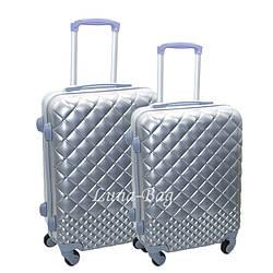 Набор из двух чемоданов 4 Цвета Серебряный (20,24)
