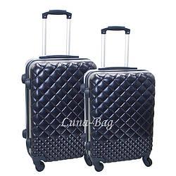 Набор из двух чемоданов 4 Цвета Синий (20,24)