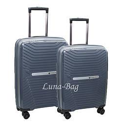 Набор из двух чемоданов 5 Цветов Серый (20,24)