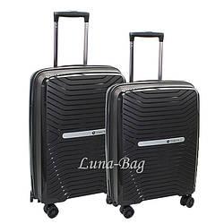 Набор из двух чемоданов 5 Цветов Черный (20,24)