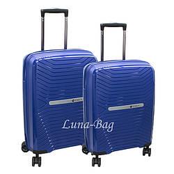 Набор из двух чемоданов 5 Цветов Синий (20,24)