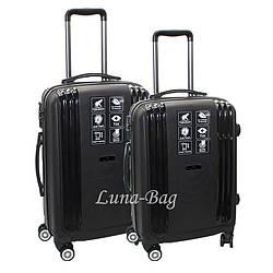 Набор из двух чемоданов 4 Цвета Черный (20,25)
