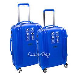 Набор из двух чемоданов 4 Цвета Синий (20,25)