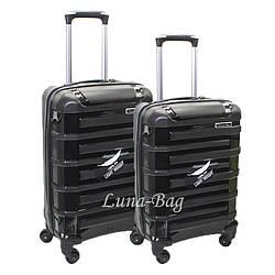 Набор из двух чемоданов 6 Цветов Черный (20,25)