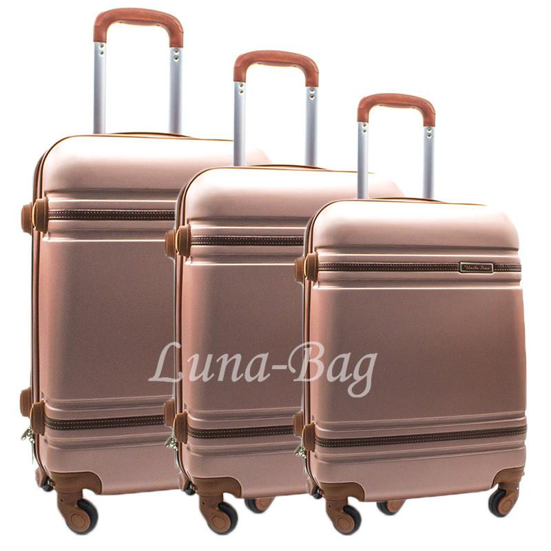 """Набор из трех чемоданов 6 Цветов Розовый (19"""" 21"""" 24"""")"""