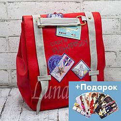 """Рюкзак """"Travel"""" 2 Цвета Красный (31*28*16)"""