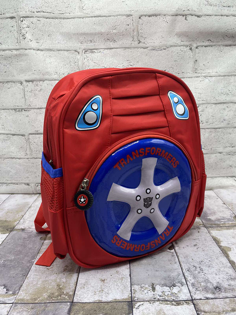 """Дитячий рюкзак """" Машинка(Колесо)"""" Колір : Червоний (30х25х12 см)"""