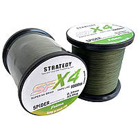 Рыболовный шнур 0.30мм 1000м Feima Strategy X4 Spider Dark Oliva