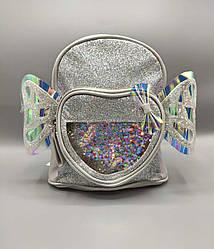 Детский рюкзак с крыльями 4 цвета - серый (21*11*23 см)