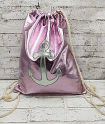"""Пляжный рюкзак  """"Pink Anchor"""" 3 Цвета Розовый (41x35 см.)"""