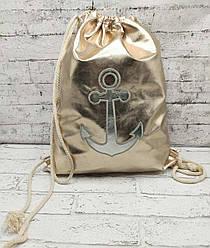 """Пляжный рюкзак  """"Golg Anchor"""" 3 Цвета Золотой (41x35 см. )"""