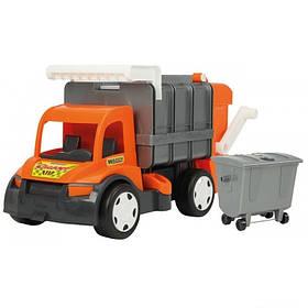Игрушечная машинка Мусоровоз Wader Гигант 67016 (1) Серо-оранжевый