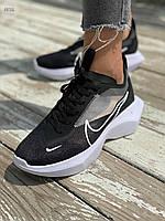 Женские стильные кроссовки Nike Vista Lite Black White Обувь Найк Виста Лайт на лето легкие черные с белым