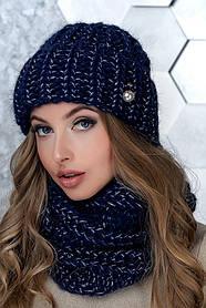 Комплект (шапка и снуд-хомут) Flirt Манго One Size синий 1015