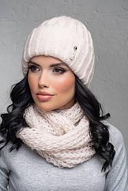 Комплект (шапка и снуд-хомут) Flirt Лика-Морган One Size пудра1016
