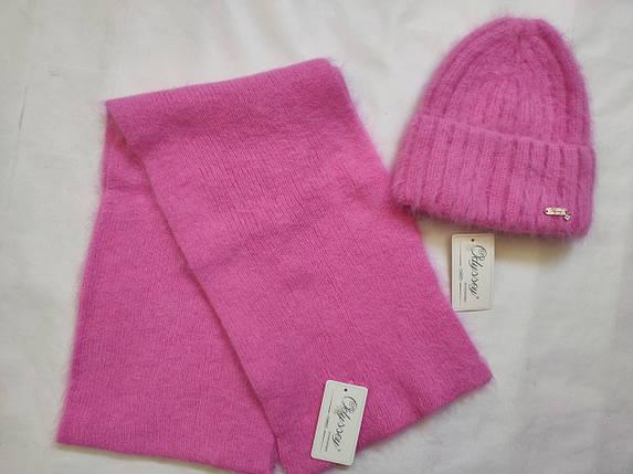Комплект шапка плюс шарф Алвина 45148  ODYSSEY сакура, фото 2