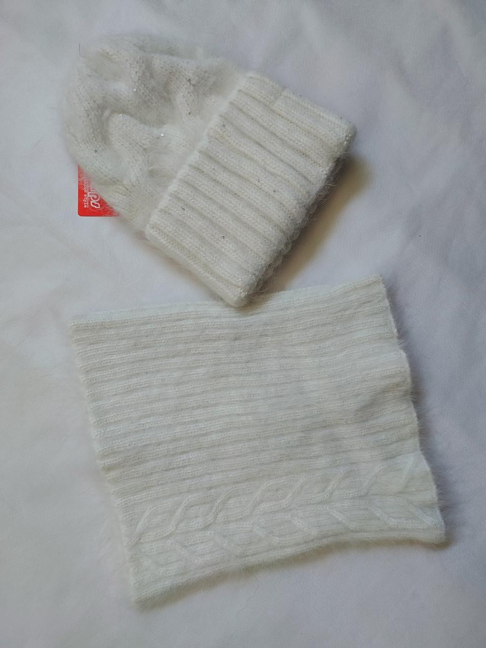 Комплект с баффом FAN CAP 20020 Амита  молоко
