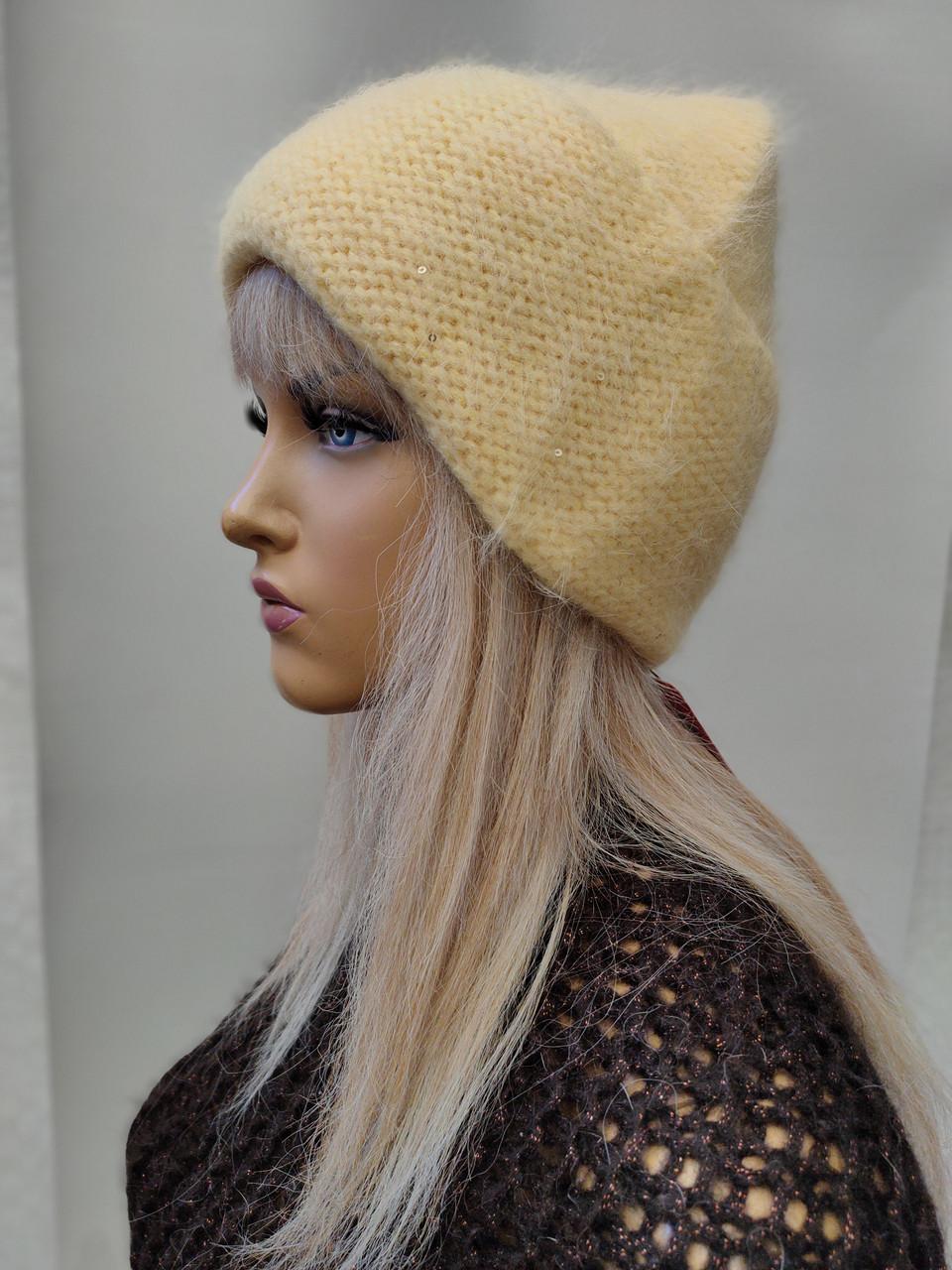 Шапка С пайетками Карина FAN CAP 2002 желтый