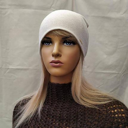 Молодежная шапка с  ЛЮРЕКСОМ Джаннет ODYSSEY 45017 снежный, фото 2