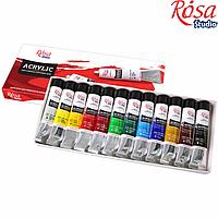 Набір акрилових фарб 12х20мл, ROSA Studio