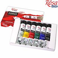 Набір акрилових фарб 6х20мл, ROSA Studio