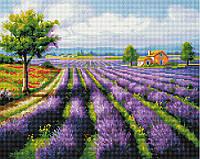 Алмазна мозаїка 40*50 Лавандові поля BrushMe