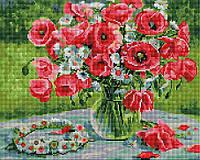 Алмазна мозаїка 40*50 Віночок польових квітів BrushMe