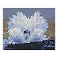 Алмазна мозаїка 40*50 Лебедина любов Strateg