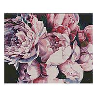 Алмазна мозаїка 40*50 Рожеві півонії Strateg