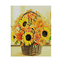Алмазна мозаїка 40*50 Кошик з соняшниками Strateg