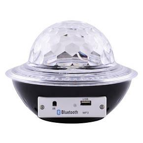 Лазерний диско куля UFO Bluetooth Crystal Magic Bal, фото 2