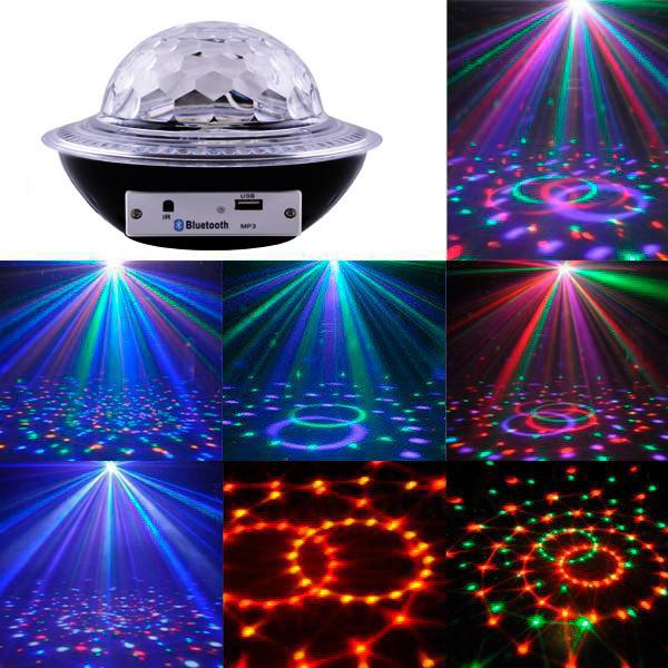 Лазерний диско куля UFO Bluetooth Crystal Magic Bal