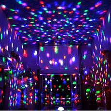 Лазерний диско куля UFO Bluetooth Crystal Magic Bal, фото 3