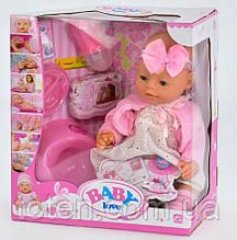 Лялька Пупс Маленька Ляля новонароджений, горщик, соска, каша і тд. BL 020 J