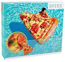 """Пляжный надувной матрас """"Пицца"""" Intex 58752"""