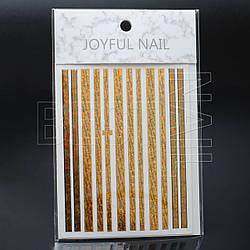 Ленты для дизайна ногтей (золото голографика с надписями)