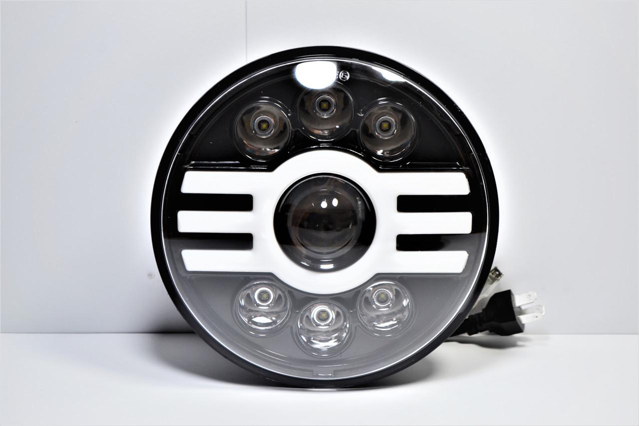 Cветодиодная LED фара 75Вт Нива, УАЗ 469, ВАЗ 2101, 2121, FJ Cruiser, мотоцикл, мото 7 дюйм (Универсальная)